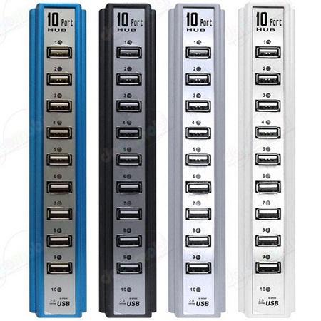 HUB chia cổng USB 10 PORT USB, có nguồn ngoài, vô